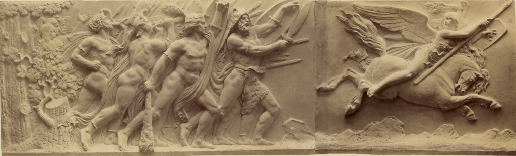 [Valkyries Lead the Warriors]; Ernst Alpers (German, active Hannover, Germany about 1867); Hannover, Germany; 1867; Albumen silver print; 17.5 × 57.8 cm (6 7/8 × 22 3/4 in.); 84.XM.766.1.4; The J. Paul Getty Museum, Los Angeles; Rights Statement: No Copyright - United States