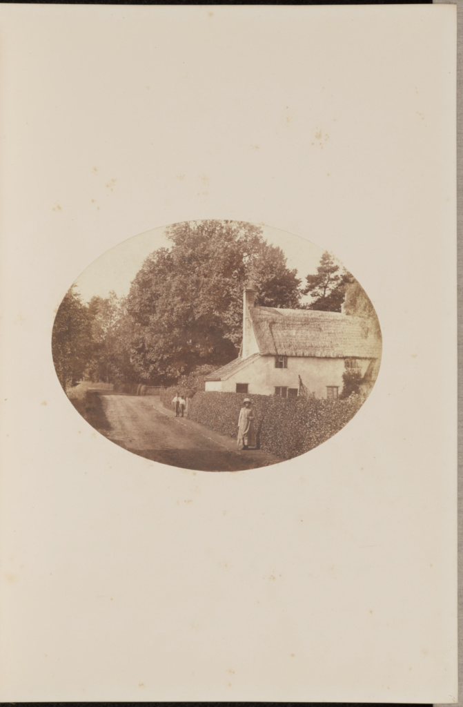 Lane Scene at Petistree, Suffolk; Mary Emma Lynn (British, about 1813 - 1903); September 19, 1855; Salted paper print from a glass negative; 15.4 × 20 cm (6 1/16 × 7 7/8 in.); 84.XA.871.6.6; Rights Statement: No Copyright - United States