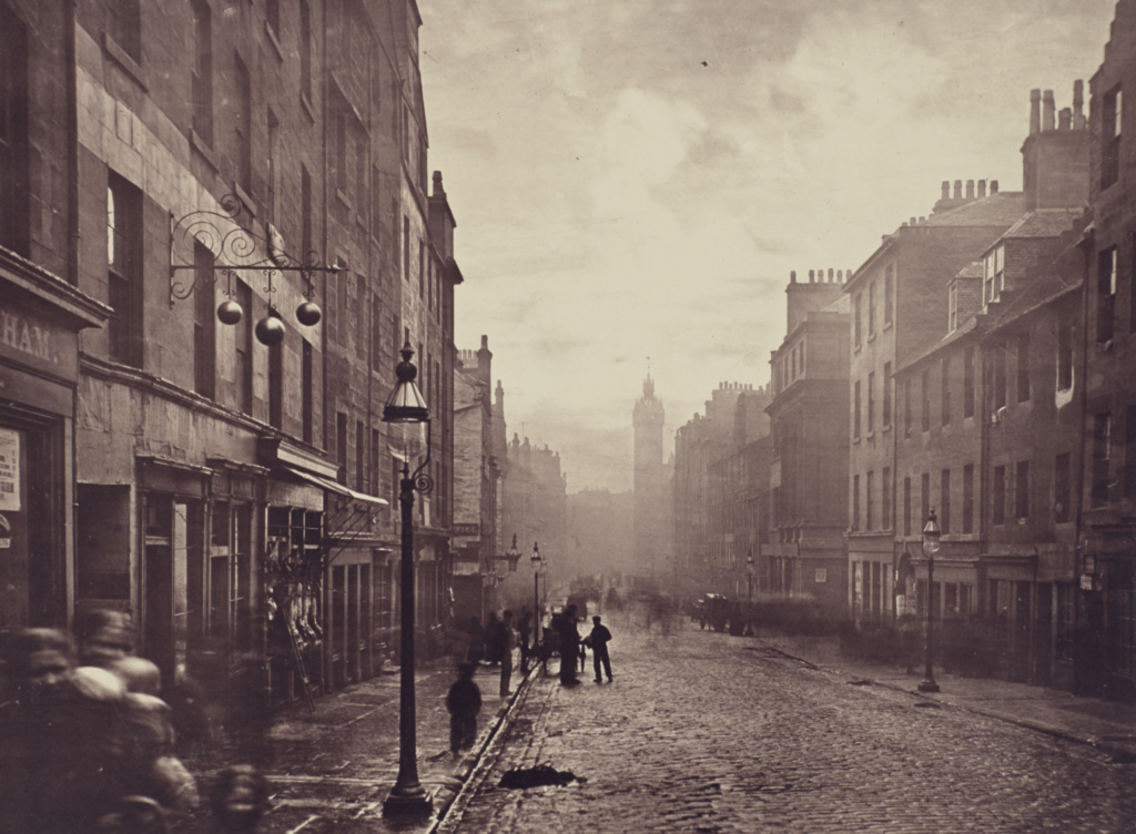 High Street, from College Open.; Thomas Annan (Scottish,1829 - 1887); Glasgow, Scotland; negative 1868 - 1871; print 1877; Carbon print; 24.8 × 33.6 cm (9 3/4 × 13 1/4 in.); 84.XA.735.2.4; The J. Paul Getty Museum, Los Angeles; Rights Statement: No Copyright - United States