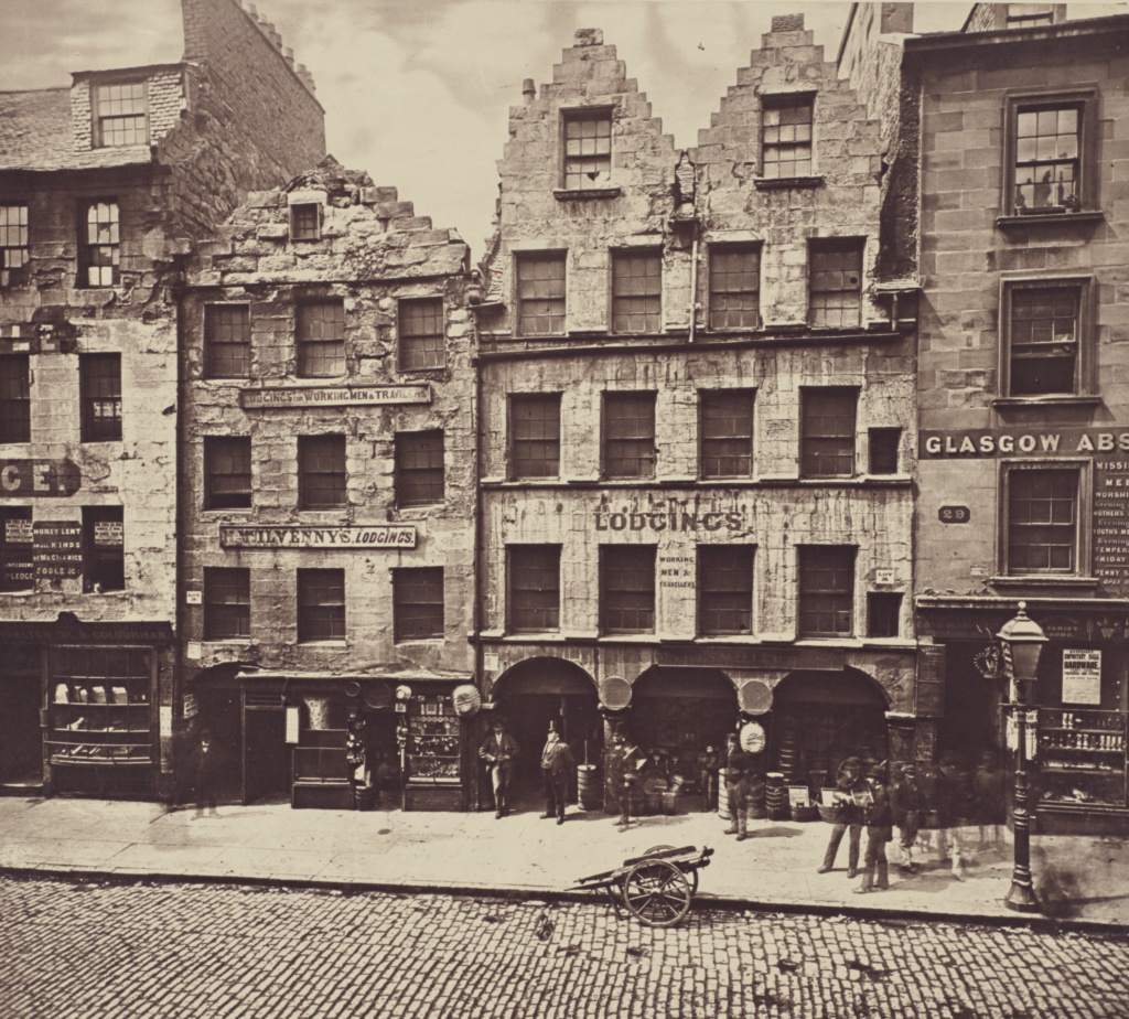 Old Building, High Street.; Thomas Annan (Scottish,1829 - 1887); Glasgow, Scotland; 1868 - 1877; Carbon print; 24.5 × 27.5 cm (9 5/8 × 10 13/16 in.); 84.XA.735.2.16; The J. Paul Getty Museum, Los Angeles; Rights Statement: No Copyright - United States