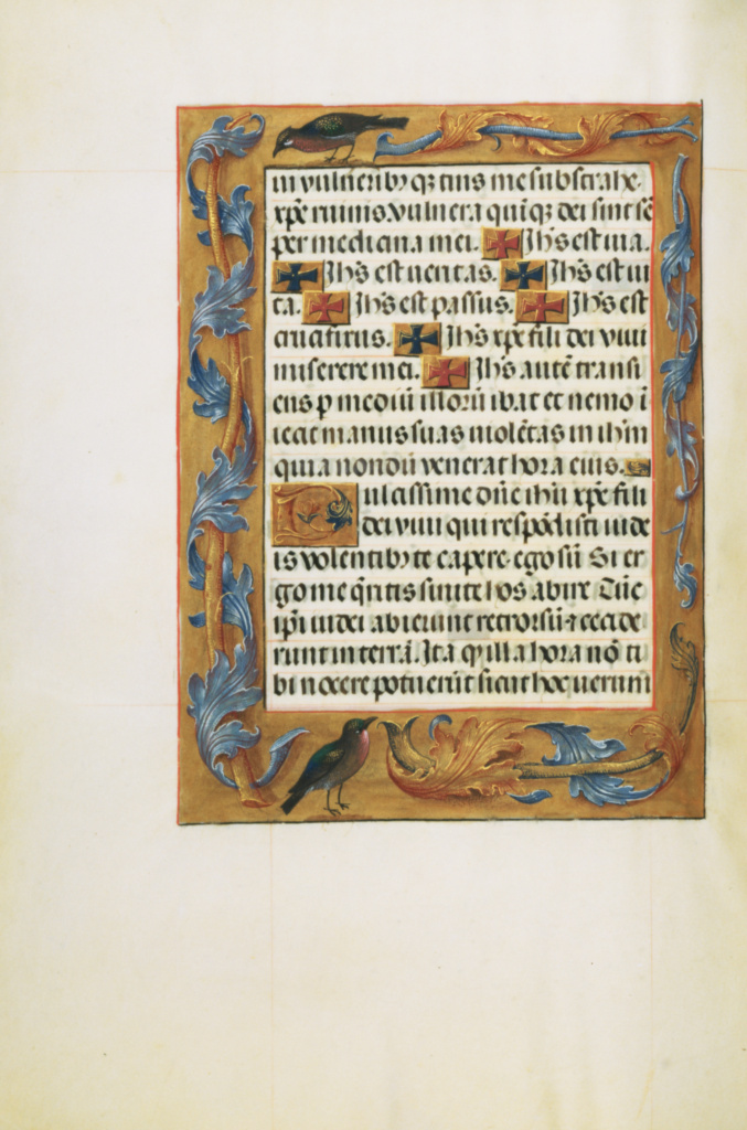 Decorated Text Page; Unknown; Bruges, Belgium; about 1510 - 1520; Tempera colors, gold, and ink on parchment; Leaf: 23.2 × 16.7 cm (9 1/8 × 6 9/16 in.); Ms. Ludwig IX 18 (83.ML.114), fol. 298v; The J. Paul Getty Museum, Los Angeles, Ms. Ludwig IX 18, fol. 298v; Rights Statement: No Copyright - United States