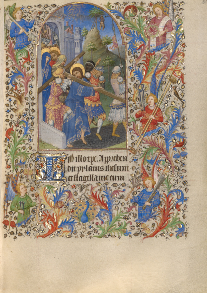 Book of Hours; Spitz Master (French, active about 1415 - 1425), Master of Sir John Fastolf (French, active before about 1420 - about 1450); Paris, France; about 1420; Tempera colors, gold, and ink; Closed: 20.5 × 15.9 × 6 cm (8 1/16 × 6 1/4 × 2 3/8 in.); Ms. 57 (94.ML.26); The J. Paul Getty Museum, Los Angeles, Ms. 57; Rights Statement: No Copyright - United States