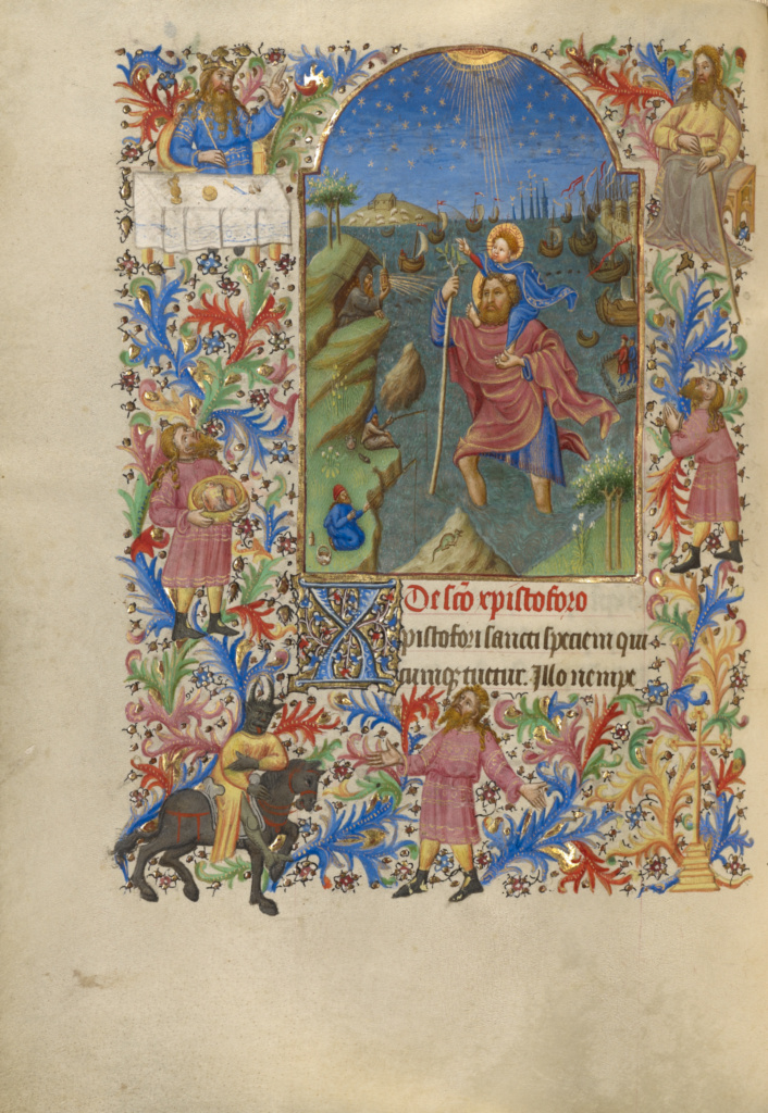 Saint Christopher Carrying the Christ Child (Getty Museum)