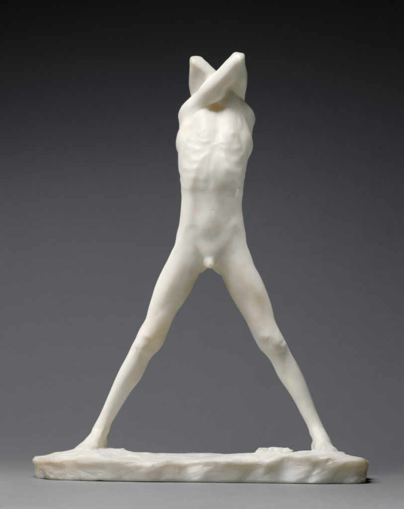 Adolescent I; George Minne (Belgian, 1866 - 1941); about 1891; Marble; 43 × 33.5 × 14.3 cm (16 15/16 × 13 3/16 × 5 5/8 in.); 97.SA.6; Rights Statement: No Copyright - United States