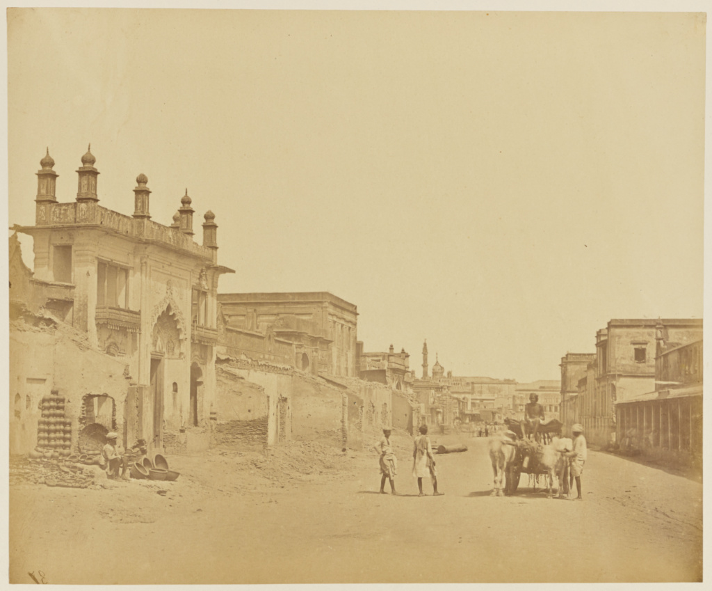 [Road in Which General Sir Henry Havelock Entered the Residency]; Felice Beato (English, born Italy, 1832 - 1909); India; 1858; Albumen silver print; 24.8 × 30 cm (9 3/4 × 11 13/16 in.); 84.XO.1168.14; The J. Paul Getty Museum, Los Angeles; Rights Statement: No Copyright - United States