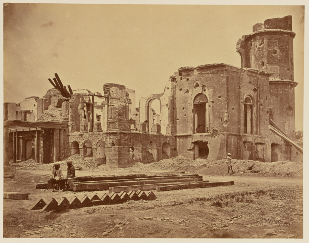 [The Residency From the Front, Showing the Room in Which Sir Henry Lawrence was Killed]; Felice Beato (English, born Italy, 1832 - 1909); India; 1858; Albumen silver print; 23.1 × 29.4 cm (9 1/8 × 11 5/8 in.); 84.XO.1168.16; The J. Paul Getty Museum, Los Angeles; Rights Statement: No Copyright - United States