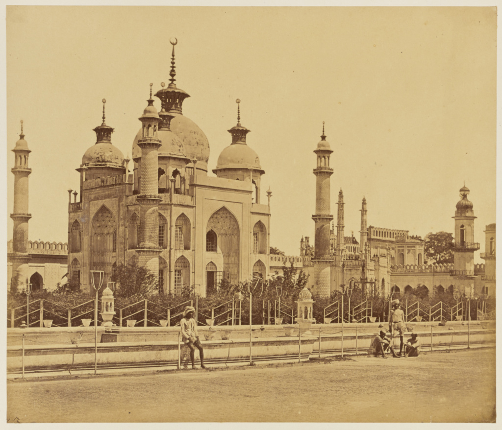 [Mosque in the Interior of the Hosainabad Emambara]; Felice Beato (English, born Italy, 1832 - 1909); India; 1858; Albumen silver print; 24.8 × 29 cm (9 3/4 × 11 3/8 in.); 84.XO.1168.21; The J. Paul Getty Museum, Los Angeles; Rights Statement: No Copyright - United States
