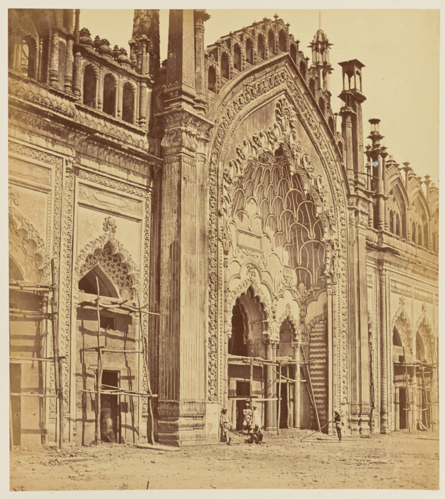[Jumina Musjid Gate, Lucknow]; Felice Beato (English, born Italy, 1832 - 1909); India; 1858; Albumen silver print; 29.9 × 26.7 cm (11 3/4 × 10 1/2 in.); 84.XO.1168.22; The J. Paul Getty Museum, Los Angeles; Rights Statement: No Copyright - United States