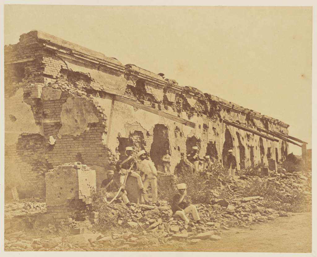 [General Wheeler's Entrenchment At Cawnpore]; Felice Beato (English, born Italy, 1832 - 1909); India; 1858; Albumen silver print; 23.6 × 30.3 cm (9 1/4 × 11 15/16 in.); 84.XO.1168.24; The J. Paul Getty Museum, Los Angeles; Rights Statement: No Copyright - United States