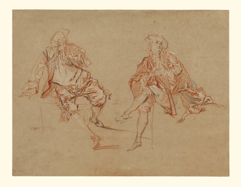 Two Seated Men; Nicolas Lancret (French, 1690 - 1743); about 1725–1730; Red, black and white chalk; 24.4 × 31.9 cm (9 5/8 × 12 9/16 in.); 97.GB.31; The J. Paul Getty Museum, Los Angeles; Rights Statement: No Copyright - United States
