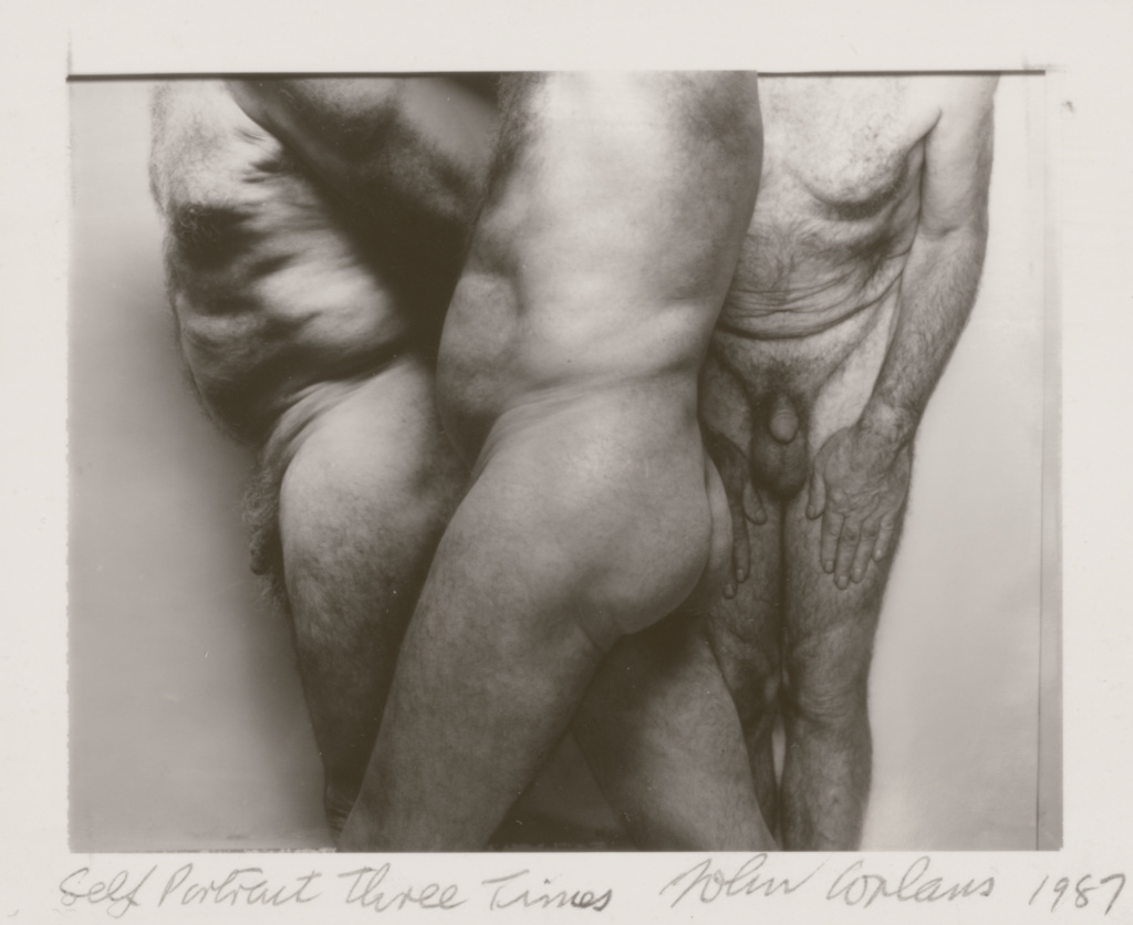 Self-Portrait Three Times; John Coplans (British, 1920 - 2003); Great Britain; 1987; Diffusion print; 8.9 × 11.4 cm (3 1/2 × 4 1/2 in.); 97.XM.20; The J. Paul Getty Museum, Los Angeles; Rights Statement: In Copyright; Copyright: © Estate of John Coplans