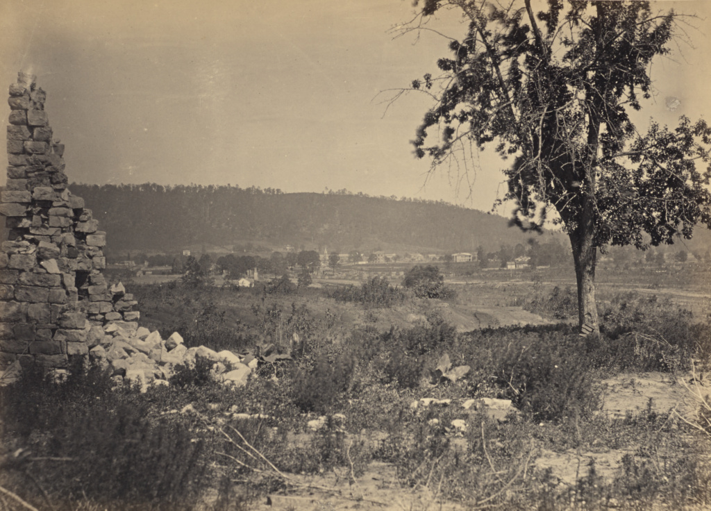 Ringold, Georgia; George N. Barnard (American, 1819 - 1902); New York, United States; negative about 1865; print 1866; Albumen silver print; 51 × 36.2 cm (20 1/16 × 14 1/4 in.); 84.XO.1323.17; The J. Paul Getty Museum, Los Angeles; Rights Statement: No Copyright - United States