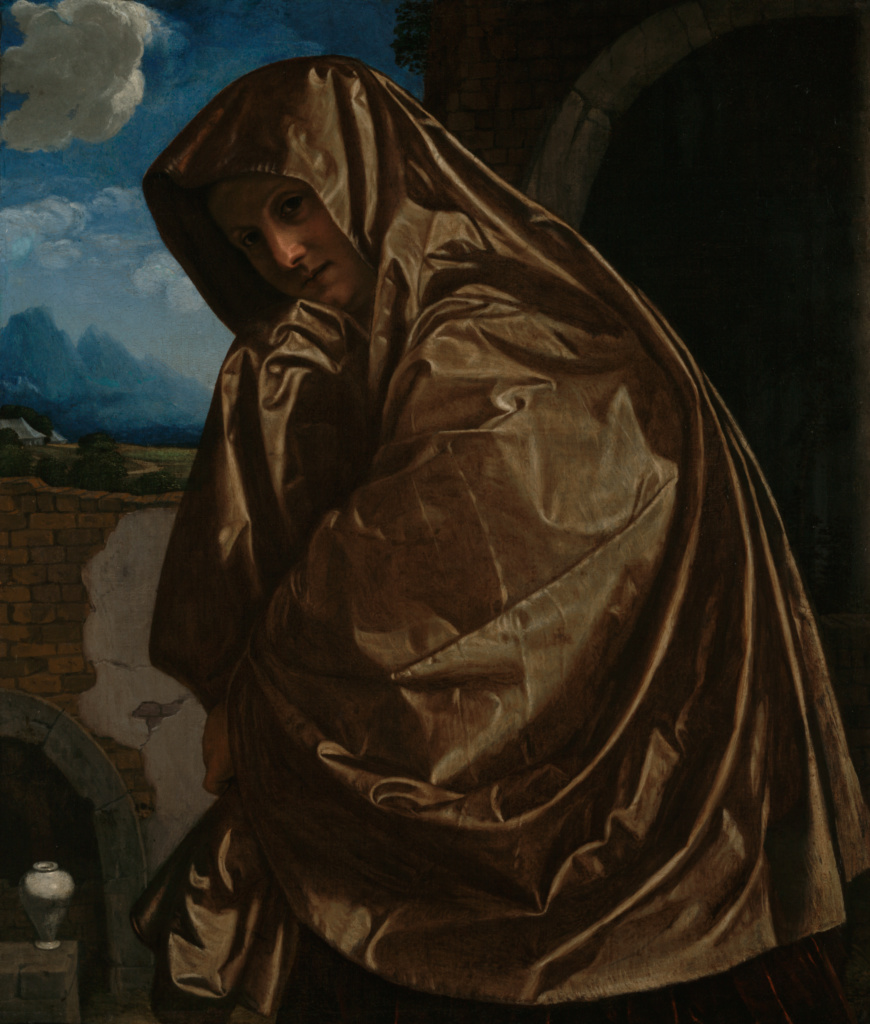 Saint Mary Magdalene at the Sepulchre; Giovanni Girolamo Savoldo (Italian (Lombard), about 1480 - after 1548); Italy; about 1530s; Oil on canvas; 92.7 × 79.4 cm (36 1/2 × 31 1/4 in.); 97.PA.55; The J. Paul Getty Museum, Los Angeles; Rights Statement: No Copyright - United States