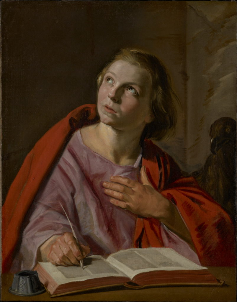 Saint John the Evangelist; Frans Hals (Dutch, 1582/1583 - 1666); about 1625–1628; Oil on canvas; 70.5 × 55.2 cm (27 3/4 × 21 3/4 in.); 97.PA.48; The J. Paul Getty Museum, Los Angeles; Rights Statement: No Copyright - United States