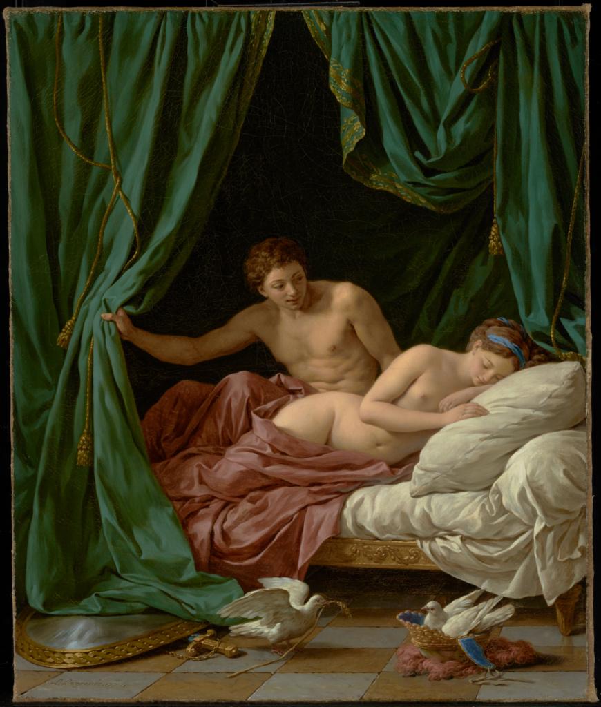 Mars and Venus, Allegory of Peace (Mars et Vénus, allégorie sur la Paix); Louis Jean François Lagrenée (French, 1725 - 1805); France; 1770; Oil on canvas; 64.8 × 53.8 cm (25 1/2 × 21 3/16 in.); 97.PA.65; The J. Paul Getty Museum, Los Angeles; Rights Statement: No Copyright - United States