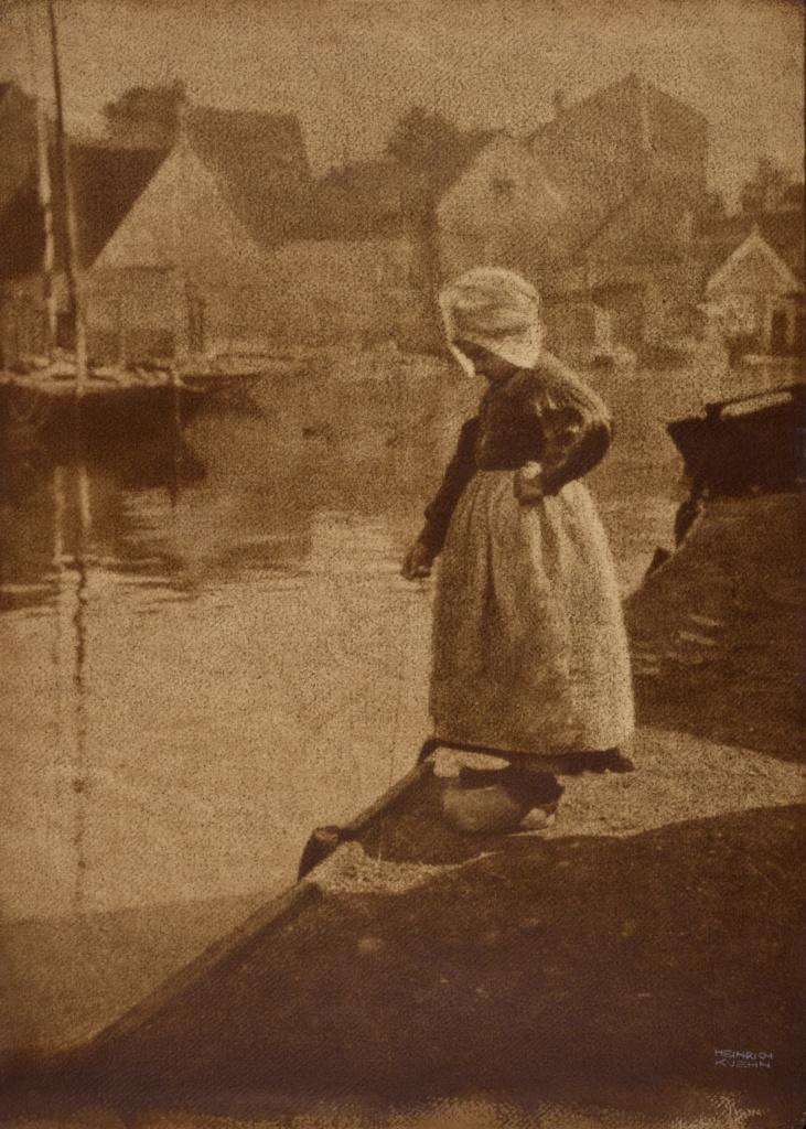 Dutch Girl in Landscape; Heinrich Kühn (Austrian, born Germany, 1866 - 1944); Austria; 1908; Gum bichromate print; 76.8 × 54.6 cm (30 1/4 × 21 1/2 in.); 2014.3.5; The J. Paul Getty Museum, Los Angeles; Rights Statement: No Copyright - United States