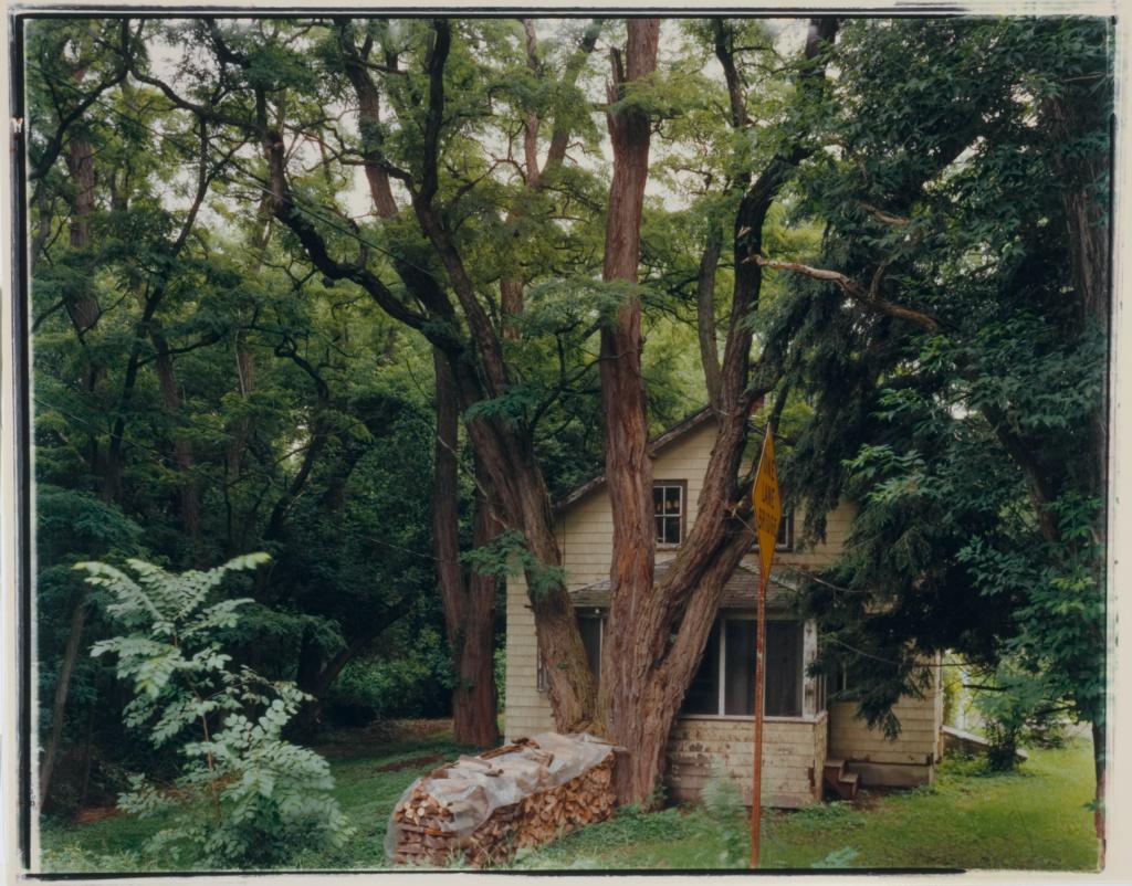 Treehouse Freese Road, Varna, New York; Rhea Garen (American, born Germany, 1959); Varna, New York, United States; 1993; Chromogenic print; 38.1 × 47 cm (15 × 18 1/2 in.); 98.XM.211.3; The J. Paul Getty Museum, Los Angeles, Gift of Nancy and Bruce Berman; Rights Statement: In Copyright; Copyright: © Rhea Garen