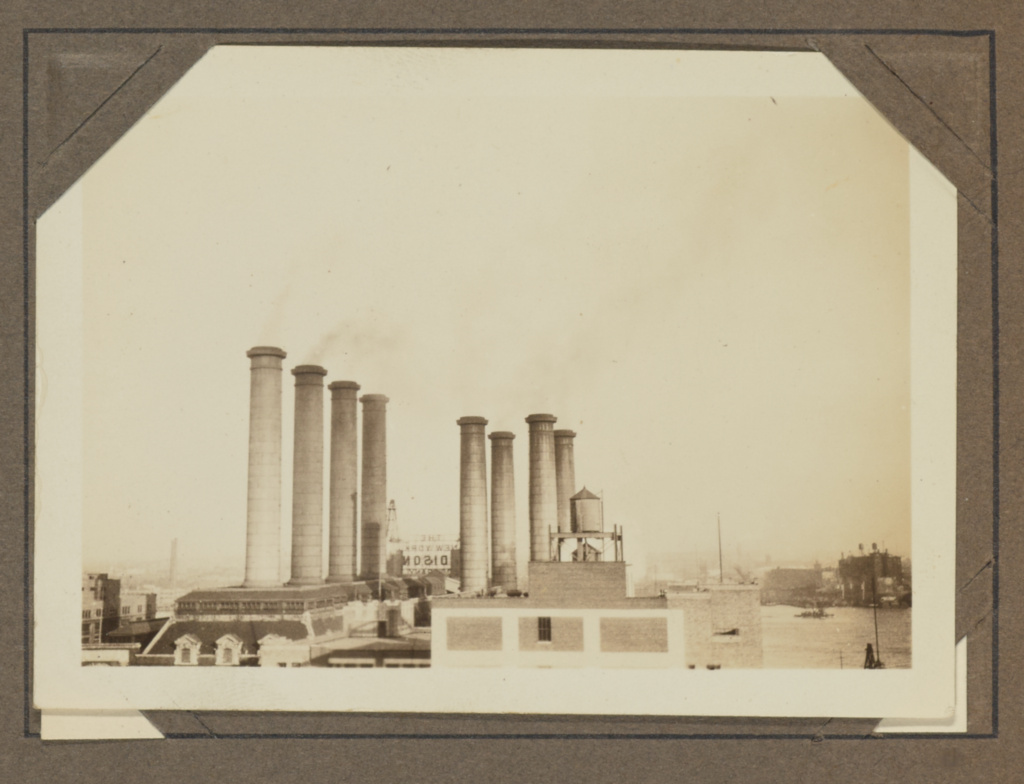 [Power plant, New York]; Aaron Siskind (American, 1903 - 1991); about 1930–1933; Gelatin silver print; 5.5 × 8 cm (2 3/16 × 3 1/8 in.); 93.XA.46.156; Gift of the Aaron Siskind Foundation; Rights Statement: In Copyright; Copyright: © Aaron Siskind Foundation