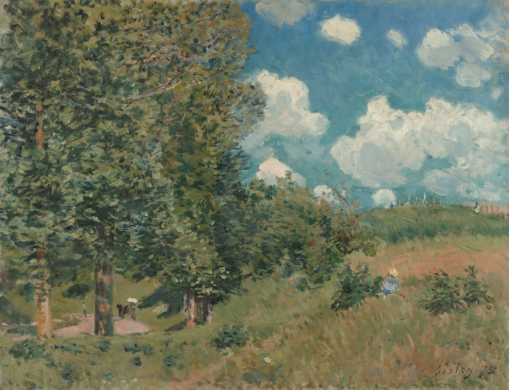 The Road from Versailles to Saint-Germain; Alfred Sisley (English, 1839 - 1899); 1875; Oil on canvas; 51.1 × 65.1 cm (20 1/8 × 25 5/8 in.); 99.PA.27; The J. Paul Getty Museum, Los Angeles; Rights Statement: No Copyright - United States