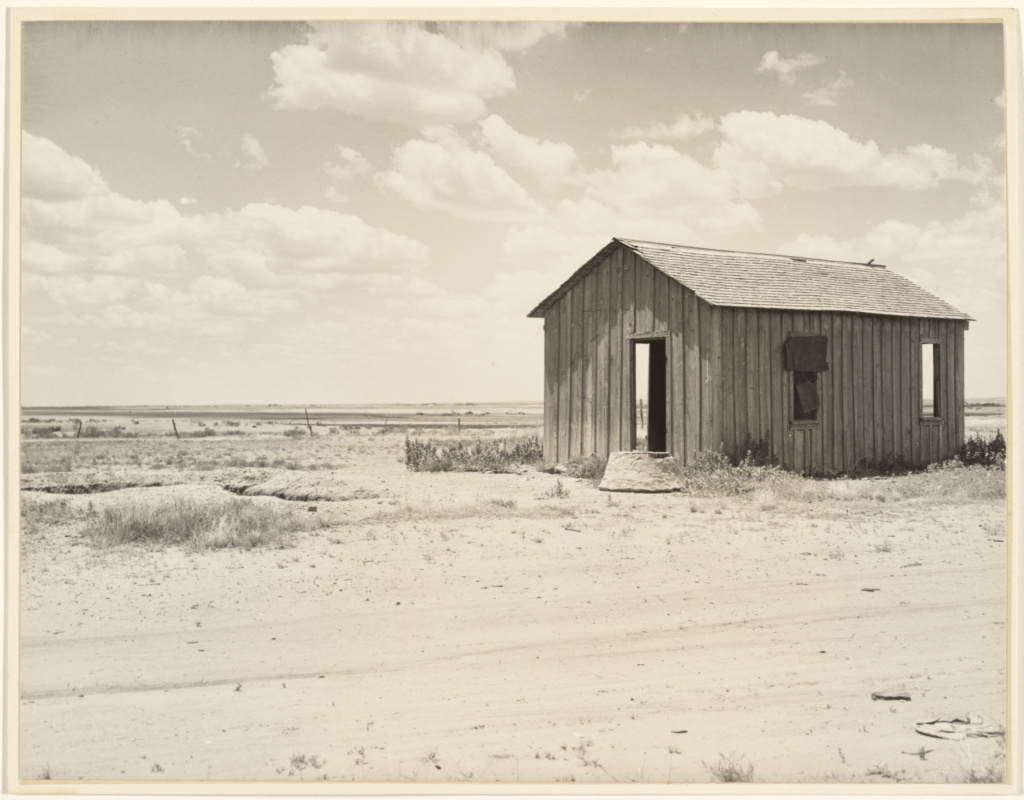 Abandoned Dust Bowl Home; Dorothea Lange (American, 1895 - 1965); about 1935–1940; Gelatin silver print; 18.9 × 24.4 cm (7 7/16 × 9 5/8 in.); 2000.50.12; The J. Paul Getty Museum, Los Angeles; Rights Statement: No Copyright - United States