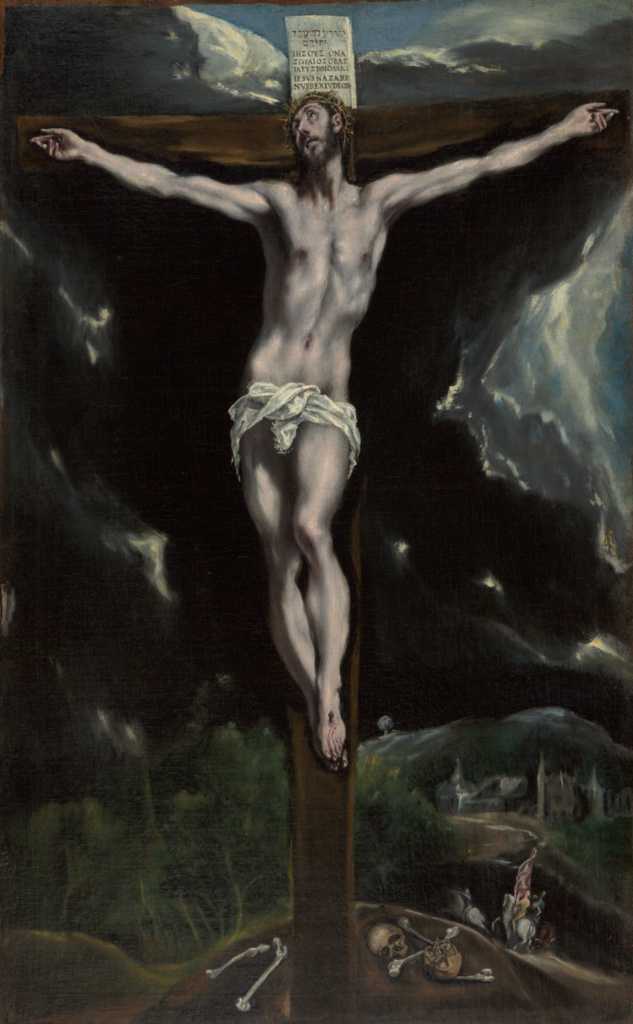 Christ on the Cross; El Greco (Domenico Theotokopoulos) (Greek, 1541 - 1614); 1600–1610; Oil on canvas; 82.6 × 51.8 cm (32 1/2 × 20 3/8 in.); 2000.40; Rights Statement: No Copyright - United States
