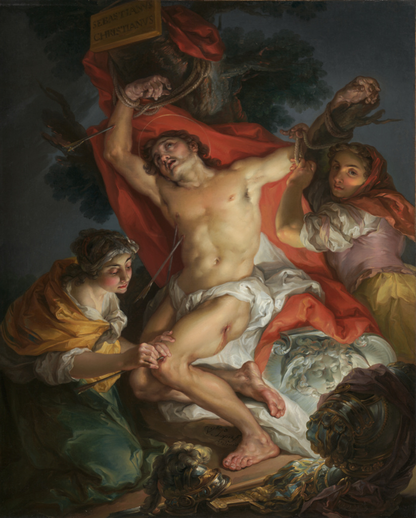 Saint Sebastian Tended by Saint Irene; Vicente López y Portaña (Spanish, 1772 - 1850); 1795–1800; Oil on canvas; 78.7 × 64.5 cm (31 × 25 3/8 in.); 2000.47; The J. Paul Getty Museum, Los Angeles, Gift of Stanley Moss in honor of John Walsh; Rights Statement: No Copyright - United States