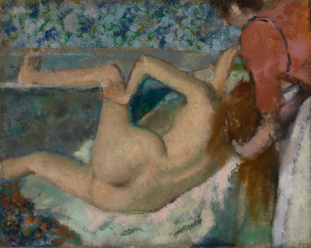 After the Bath; Edgar Degas (French, 1834 - 1917); about 1895; Oil on canvas; 65.7 × 82.2 cm (25 7/8 × 32 3/8 in.); 2001.20; The J. Paul Getty Museum, Los Angeles; Rights Statement: No Copyright - United States