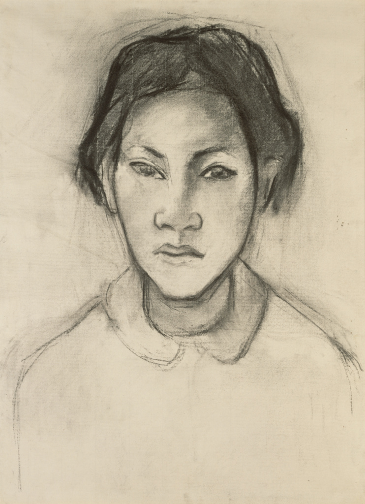 Head of a Tahitian Woman; Paul Gauguin (French, 1848 - 1903); Tahiti, France; about 1892; Charcoal; 41.9 × 31.1 cm (16 1/2 × 12 1/4 in.); 2001.57; The J. Paul Getty Museum, Los Angeles; Rights Statement: No Copyright - United States