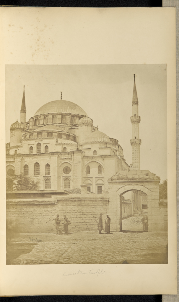 Mosque, Constantinople; James Robertson (English, 1813 - 1888); Constantinople, Turkey; 1855 - 1856; Salted paper print; 31.9 × 25.7 cm (12 9/16 × 10 1/8 in.); 84.XA.619.74; The J. Paul Getty Museum, Los Angeles; Rights Statement: No Copyright - United States
