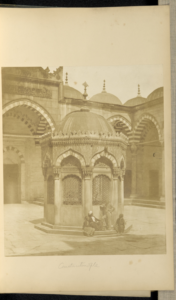 Court of a Mosque, Constantinople; James Robertson (English, 1813 - 1888), Felice Beato (English, born Italy, 1832 - 1909), Antonio Beato (English, born Italy, about 1835 - 1906); Constantinople, Turkey; 1857; Salted paper print; 30.6 × 26.2 cm (12 1/16 × 10 5/16 in.); 84.XA.619.76; The J. Paul Getty Museum, Los Angeles; Rights Statement: No Copyright - United States