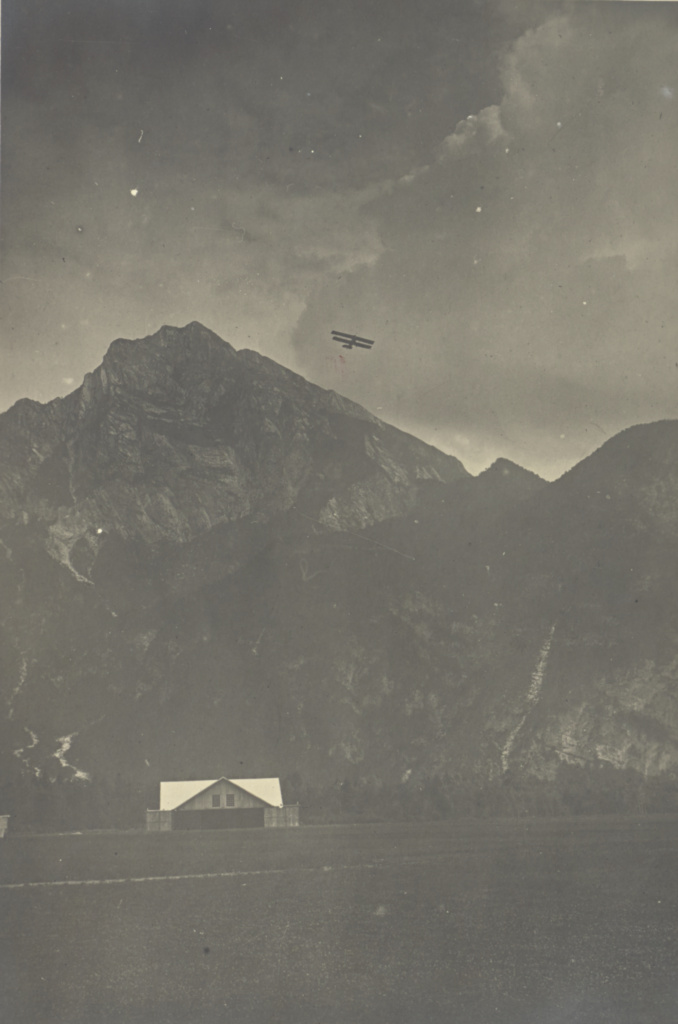 [Plane flying over mountains]; Fédèle Azari (Italian, 1895 - 1930); Italy; 1914–1929; Gelatin silver print; 16.5 × 17 cm (6 1/2 × 6 11/16 in.); 84.XA.240.45; The J. Paul Getty Museum, Los Angeles; Rights Statement: No Copyright - United States