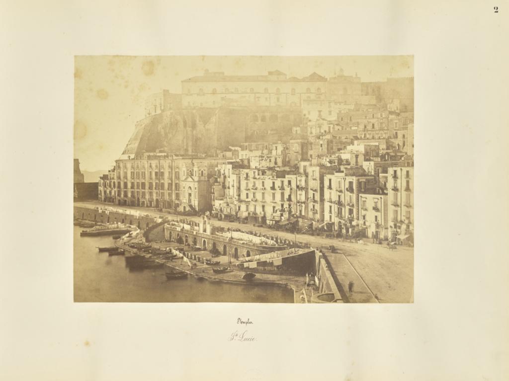 Naples. Ste Lucie; Giorgio Sommer (Italian, born Germany, 1834 - 1914); 1857; Albumen silver print; 27.3 × 38.1 cm (10 3/4 × 15 in.); 84.XO.257.2; Rights Statement: No Copyright - United States
