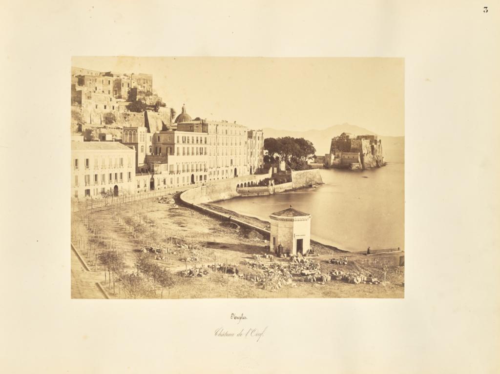 Naples. Chateau de l'Oeuf; Giorgio Sommer (Italian, born Germany, 1834 - 1914); 1857; Albumen silver print; 27.3 × 38.1 cm (10 3/4 × 15 in.); 84.XO.257.3; Rights Statement: No Copyright - United States
