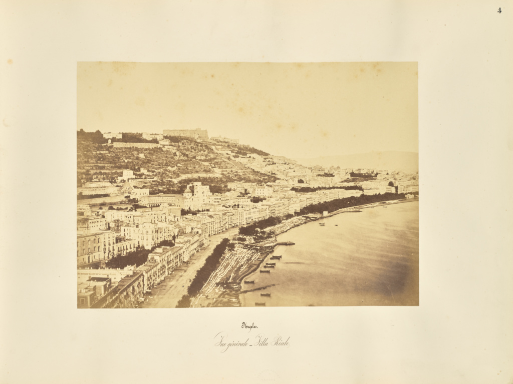 Naples. Vue generale - Villa Reale; Giorgio Sommer (Italian, born Germany, 1834 - 1914); Naples, Campania, Italy; 1857; Albumen silver print; 27.3 × 38.1 cm (10 3/4 × 15 in.); 84.XO.257.4; The J. Paul Getty Museum, Los Angeles; Rights Statement: No Copyright - United States