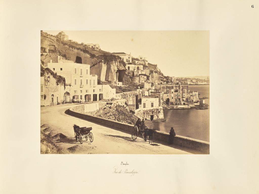 Naples. Vue de Pausilippe; Giorgio Sommer (Italian, born Germany, 1834 - 1914); 1857; Albumen silver print; 27.2 × 38 cm (10 11/16 × 14 15/16 in.); 84.XO.257.6; Rights Statement: No Copyright - United States