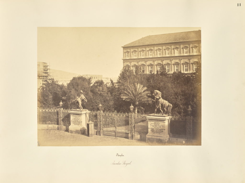 Naples. Jardin Royal; Giorgio Sommer (Italian, born Germany, 1834 - 1914); Naples, Campania, Italy; 1857; Albumen silver print; 27.2 × 38 cm (10 11/16 × 14 15/16 in.); 84.XO.257.11; The J. Paul Getty Museum, Los Angeles; Rights Statement: No Copyright - United States