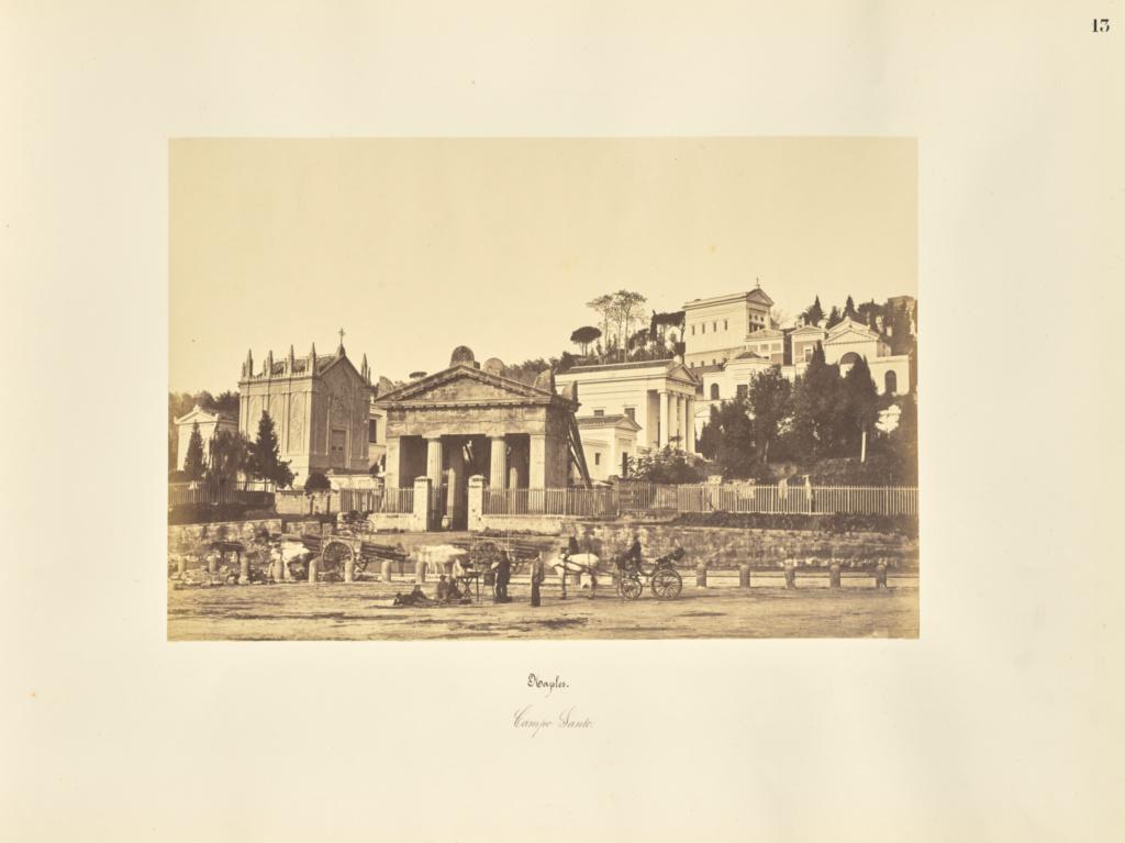 Naples. Campo Santo.; Giorgio Sommer (Italian, born Germany, 1834 - 1914); 1857; Albumen silver print; 27.3 × 38.1 cm (10 3/4 × 15 in.); 84.XO.257.13; Rights Statement: No Copyright - United States