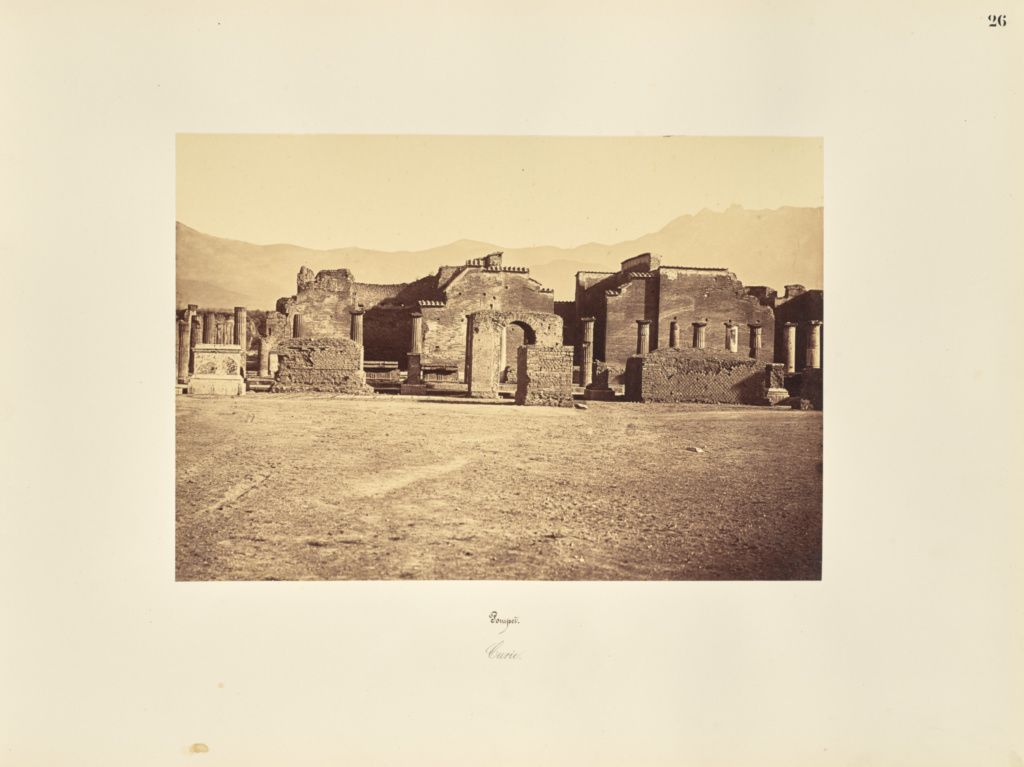 Pompei. Curie.; Giorgio Sommer (Italian, born Germany, 1834 - 1914); 1857; Albumen silver print; 27.3 × 38.1 cm (10 3/4 × 15 in.); 84.XO.257.26; Rights Statement: No Copyright - United States