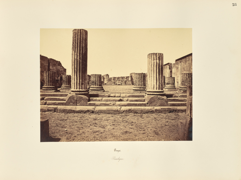 Pompei. Basilique; Giorgio Sommer (Italian, born Germany, 1834 - 1914); Naples, Campania, Italy; 1857; Albumen silver print; 27.3 × 38.1 cm (10 3/4 × 15 in.); 84.XO.257.28; The J. Paul Getty Museum, Los Angeles; Rights Statement: No Copyright - United States