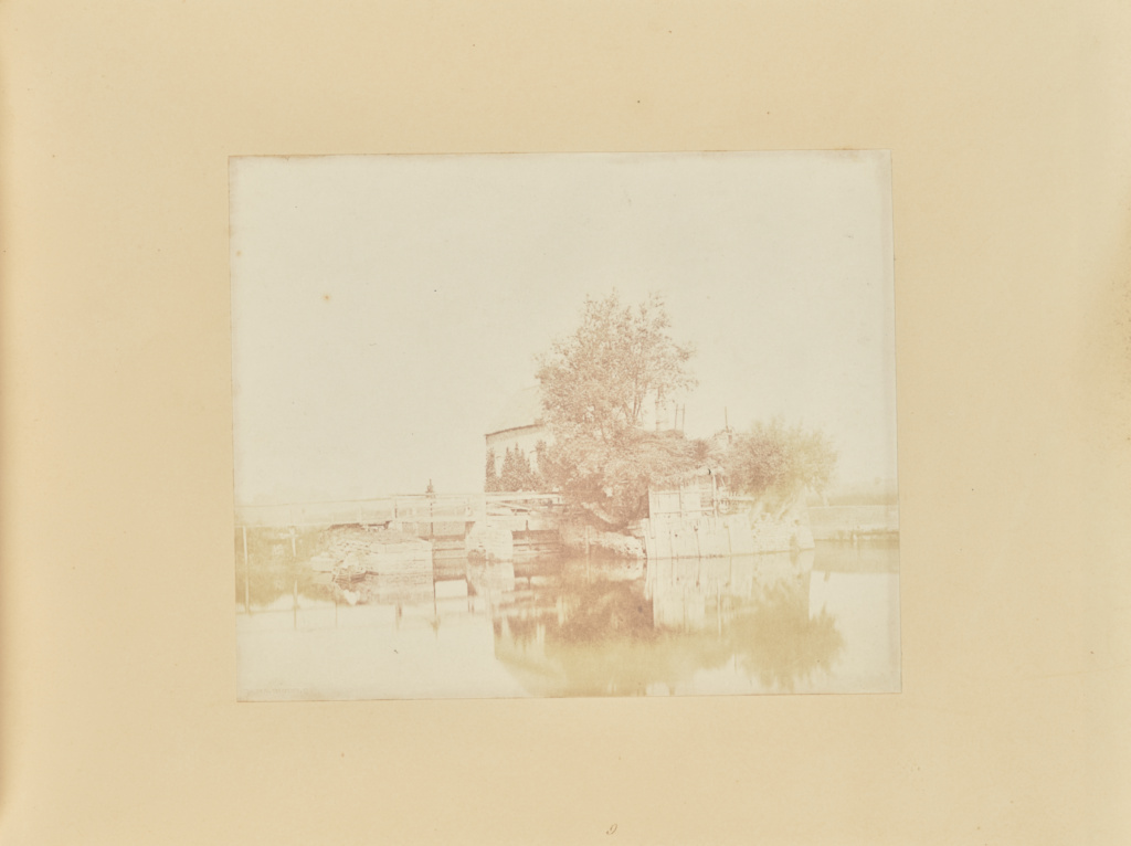 Sluice, at Orton; Samuel Buckle (British, 1808 - 1860); 1853; Salted paper print from a paper negative; 16.3 × 19.9 cm (6 7/16 × 7 13/16 in.); 84.XO.288.3; Rights Statement: No Copyright - United States