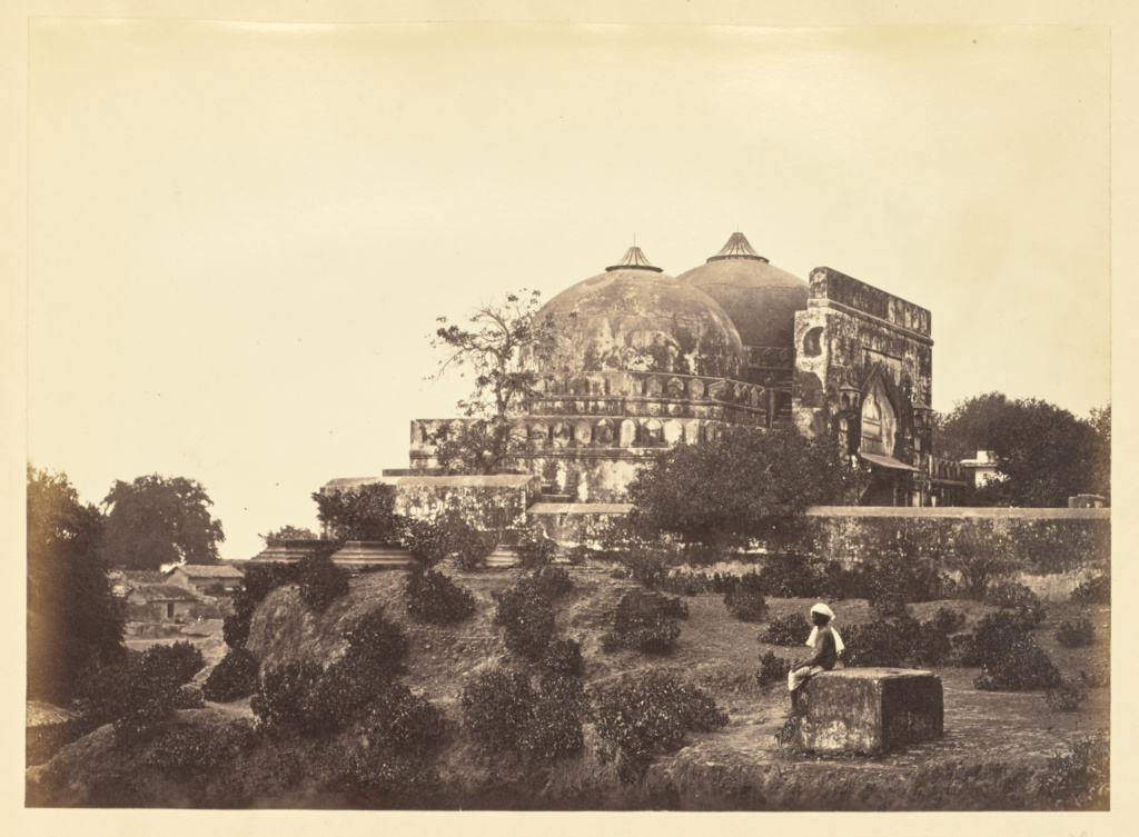 [Babri Masjid, Faizabad]; Unknown; Faizabad, India; about 1863–1887; Albumen silver print; 15.2 × 20.9 cm (6 × 8 1/4 in.); 84.XA.417.32; The J. Paul Getty Museum, Los Angeles; Rights Statement: No Copyright - United States