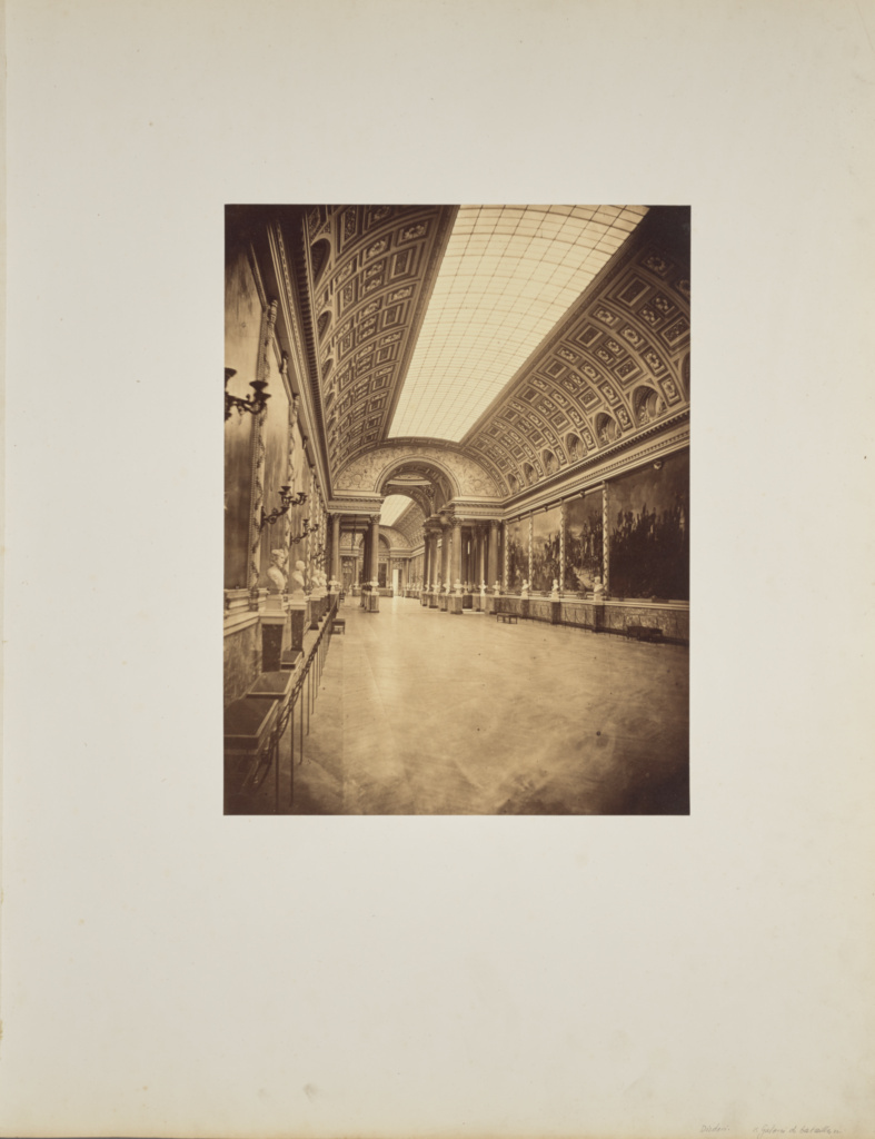 Galerie des Batailles; André Adolphe-Eugène Disdéri (French, 1819 - 1889); 1857; Albumen silver print; 34.7 × 26.5 cm (13 11/16 × 10 7/16 in.); 84.XO.433.4; Rights Statement: No Copyright - United States