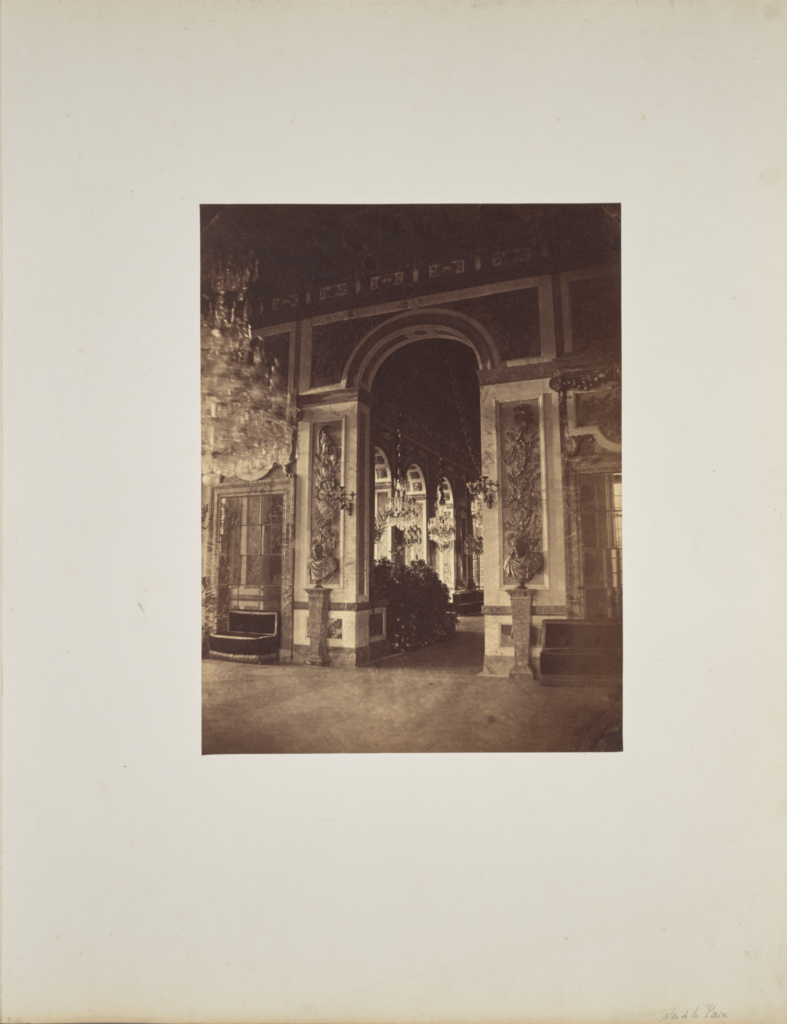 Salon de la Paix; André Adolphe-Eugène Disdéri (French, 1819 - 1889); 1857; Albumen silver print; 34.7 × 26.6 cm (13 11/16 × 10 1/2 in.); 84.XO.433.5; Rights Statement: No Copyright - United States