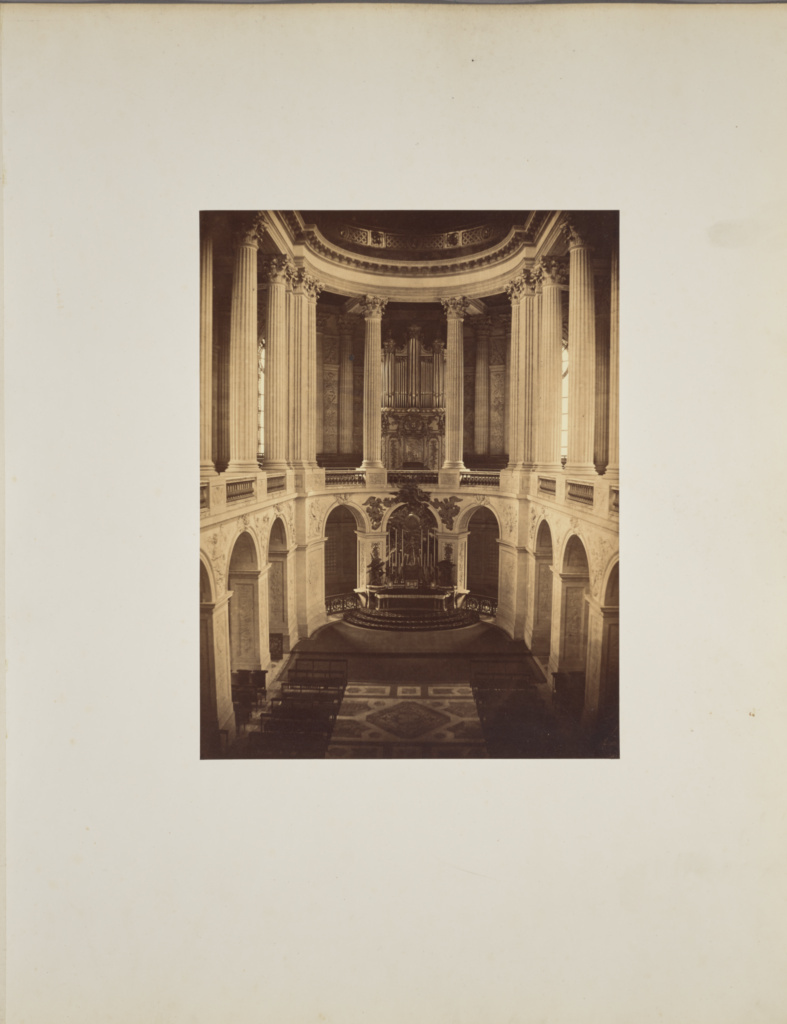 La Chapelle; André Adolphe-Eugène Disdéri (French, 1819 - 1889); 1857; Albumen silver print; 34.6 × 26.5 cm (13 5/8 × 10 7/16 in.); 84.XO.433.6; Rights Statement: No Copyright - United States