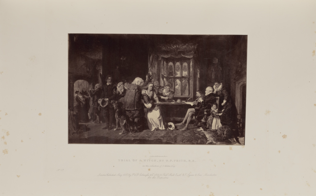 Trial of a Witch, by W.P. Frith, R.A.; Caldesi & Montecchi (British, active 1850s); 1858; Albumen silver print; 18.4 × 29.9 cm (7 1/4 × 11 3/4 in.); 84.XB.582.2.17; Rights Statement: No Copyright - United States