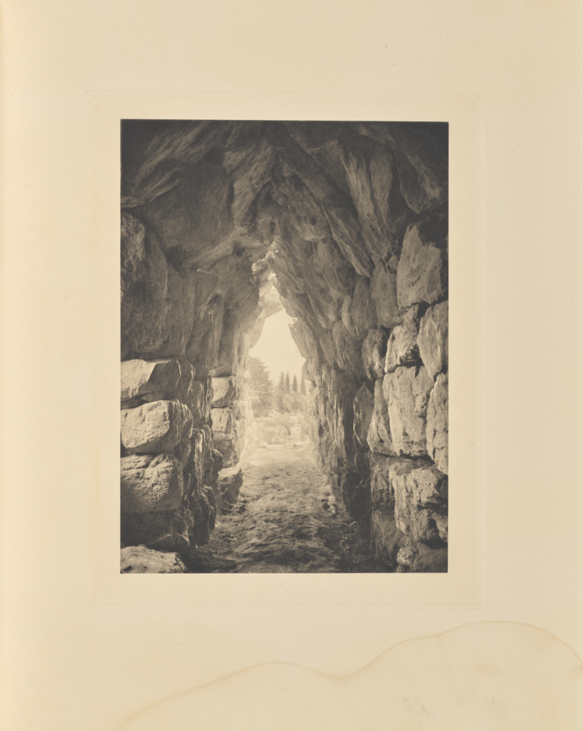 Tirynthe. Magasin voûté; Frédéric Boissonnas (Swiss, 1858 - 1946); 1910; Heliogravure / Photolithograph; 28.8 × 20.8 cm (11 5/16 × 8 3/16 in.); 84.XB.584.142; Rights Statement: No Copyright - United States