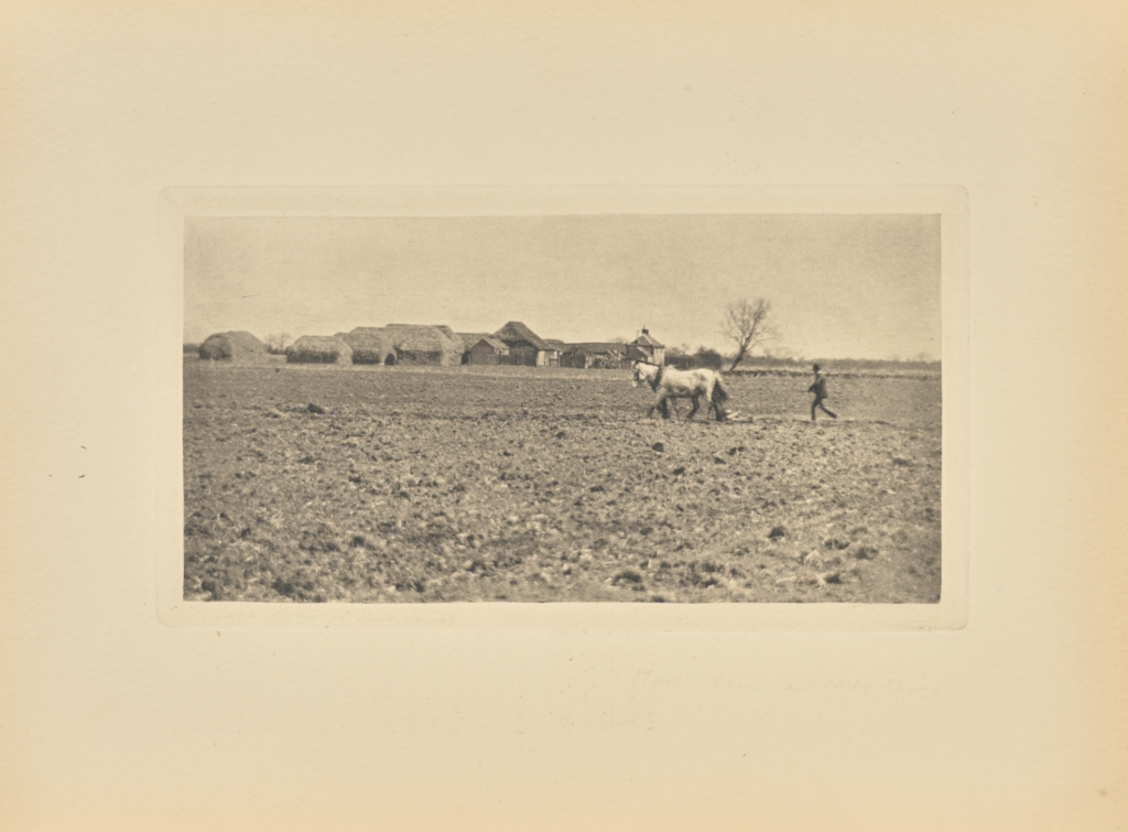 [Marsh Farm in Early Spring]; Peter Henry Emerson (British, born Cuba, 1856 - 1936); London, England; 1893; Photogravure; 7.6 × 14.9 cm (3 × 5 7/8 in.); 84.XB.696.10.11; The J. Paul Getty Museum, Los Angeles; Rights Statement: No Copyright - United States