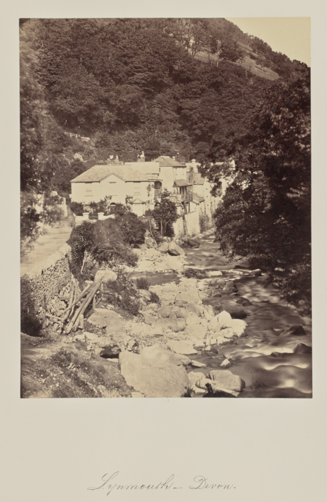 Lynmouth - Devon.; Attributed to Francis Bedford (English, 1815/1816 - 1894), or Arthur James Melhuish (English, 1829 - 1895); Lynmouth, Devon, Great Britain; about 1865; Albumen silver print; 22.1 × 16.8 cm (8 11/16 × 6 5/8 in.); 84.XO.735.1.136; The J. Paul Getty Museum, Los Angeles; Rights Statement: No Copyright - United States