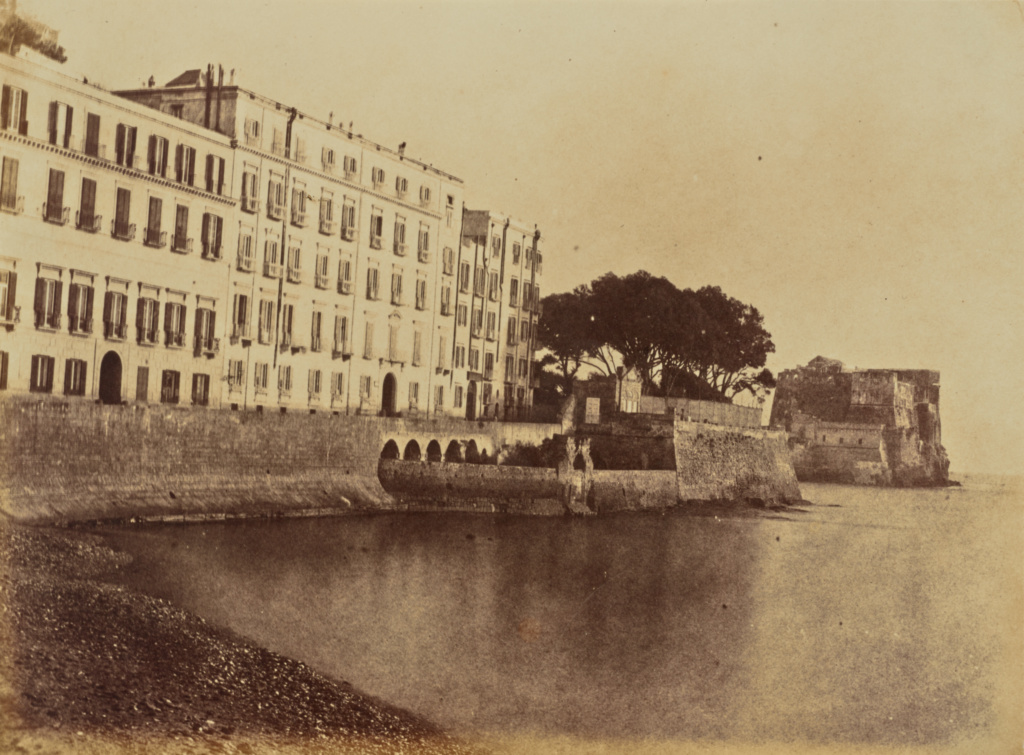 Hotel des Etrangers, Naples; Jane Martha St. John (British, 1801 - 1882); Naples, Italy; 1856–1859; Albumen silver print from a paper negative; 18.3 × 24.8 cm (7 3/16 × 9 3/4 in.); 84.XA.760.14.7; The J. Paul Getty Museum, Los Angeles; Rights Statement: No Copyright - United States