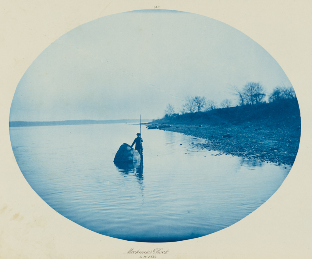 [Mechanic's Rock, Low Water]; Henry P. Bosse (American, 1844 - 1903); 1889; Cyanotype; 26.5 × 33.2 cm (10 7/16 × 13 1/16 in.); 2002.32.4; Rights Statement: No Copyright - United States